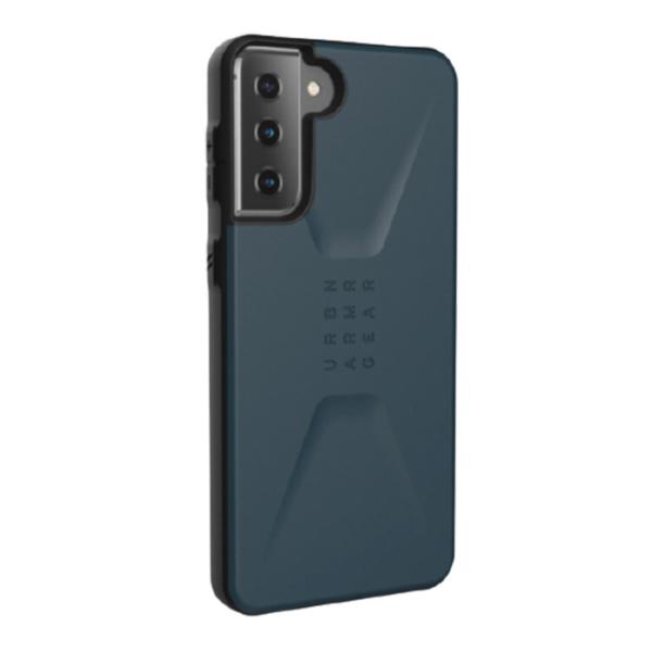 Противоударный чехол Uag Civilian для Samsung Galaxy S21 темно-синий (Mallard)