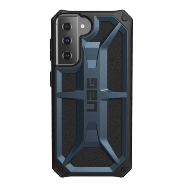 Противоударный чехол Uag Monarch для Samsung Galaxy S21 темно-синий (Mallard)