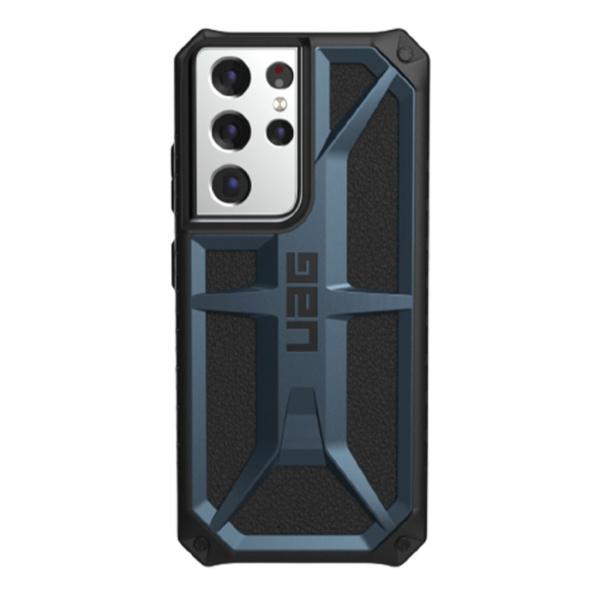 Противоударный чехол Uag Monarch для Samsung Galaxy S21 Ultra темно-синий (Mallard)