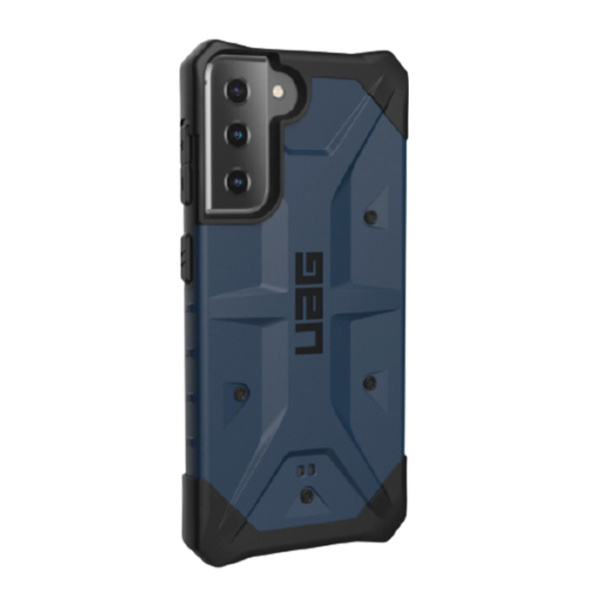 Противоударный чехол Uag Pathfinder для Samsung Galaxy S21 Plus тёмно-синий (Mallard)