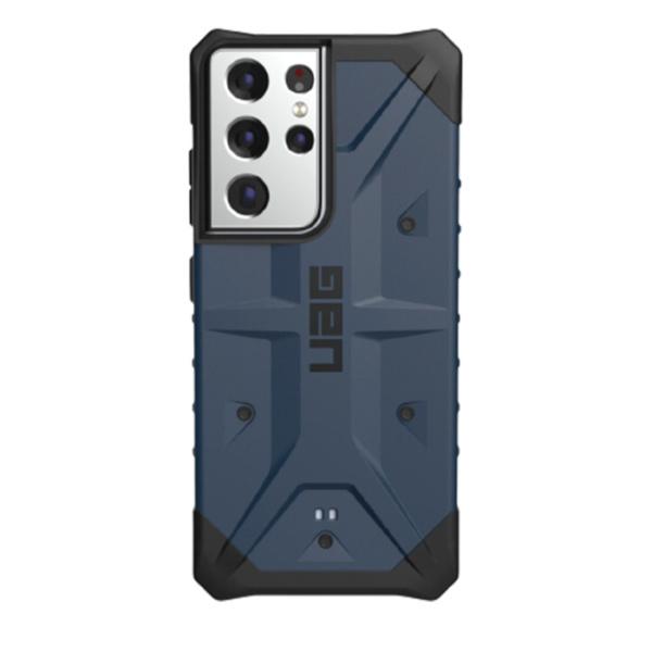 Противоударный чехол Uag Pathfinder для Samsung Galaxy S21 Ultra тёмно-синий (Mallard)