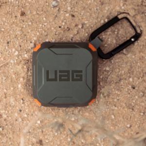 Чехол UAG для Samsung Galaxy Buds Live, оливковый-оранжевый (Olive/Orange)